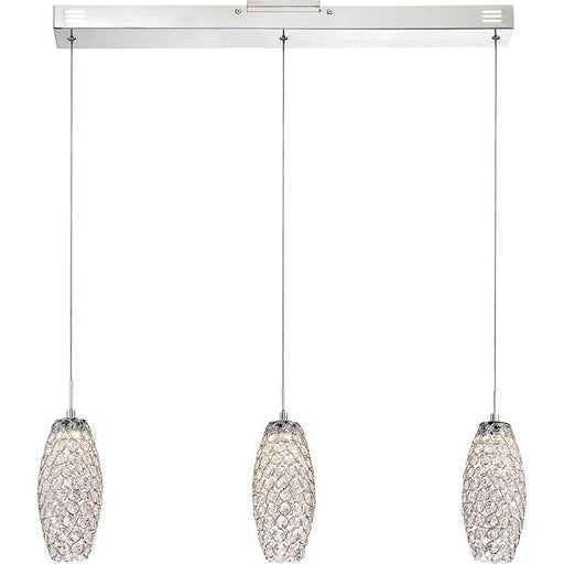 Quoizel Platinum Infinity Light Island Chandelier, Polished Chrome