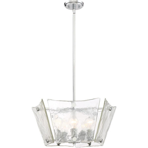 Quoizel Glaze 5 Light Pendant, Polished Chrome