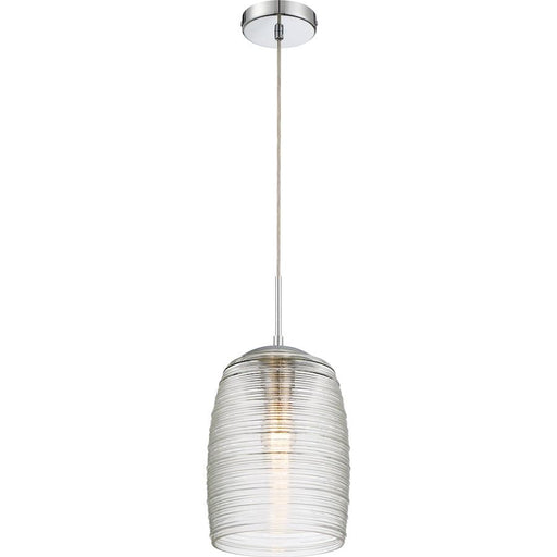 Quoizel Rebound 1 Light Mini Pendant, Polished Chrome