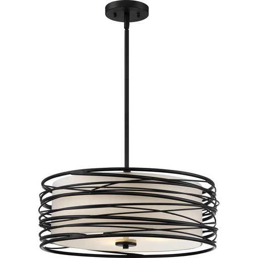 Quoizel 3 Light Spiral Pendant, Mystic Black