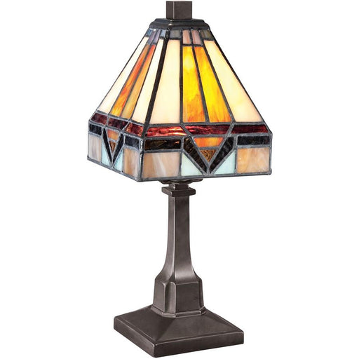 Quoizel Lighting Tiffany 1 Light Table Lamp, Vintage Bronze