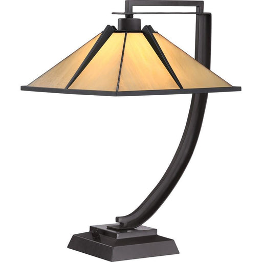 Quoizel Pomeroy Tiffany Table Lamp, Western Bronze