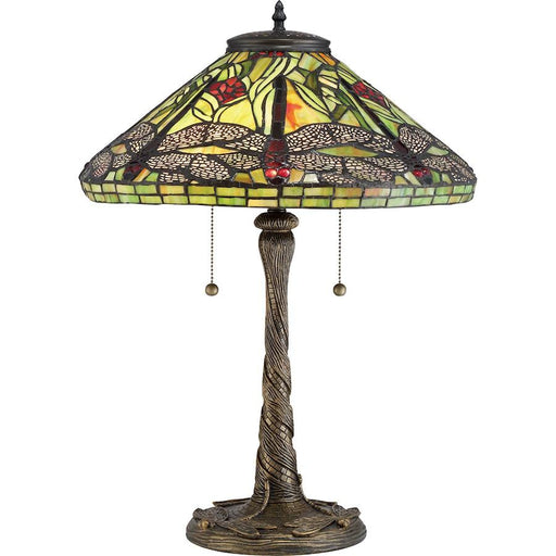Quoizel Tiffany Table Lamp, Architectural Bronze