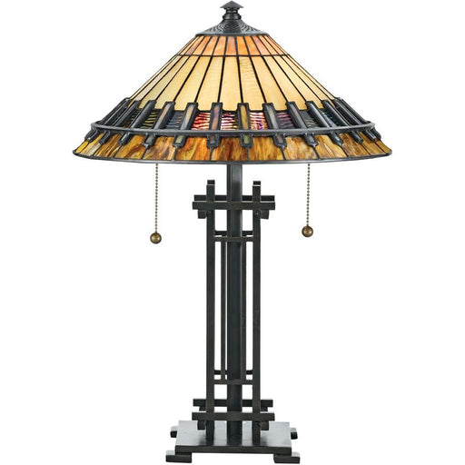 Quoizel 2 Light Chastain Tiffany Table Lamp