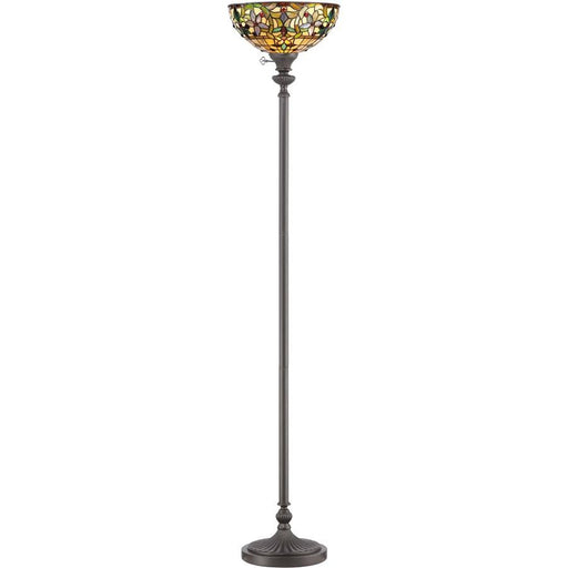 Quoizel 1 Light Kami Tiffany Torchiere, Vintage Bronze