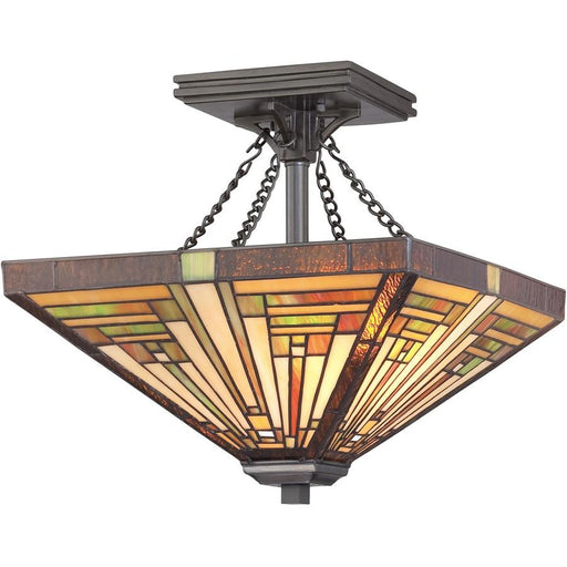 Quoizel 2 Light Stephen Semi-Flush Mount, Vintage Bronze