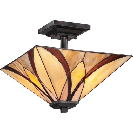 Quoizel Asheville Semi-Flush Mount, Valiant Bronze