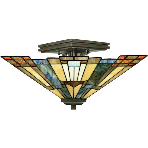 Quoizel 2 Light Inglenook Semi-Flush Mount Valiant Bronze