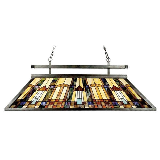 Quoizel 3 Light Inglenook Island Light, Valiant Bronze