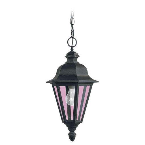 Sea Gull Lighting Single-Light Brentwood Outdoor Pendant, Black