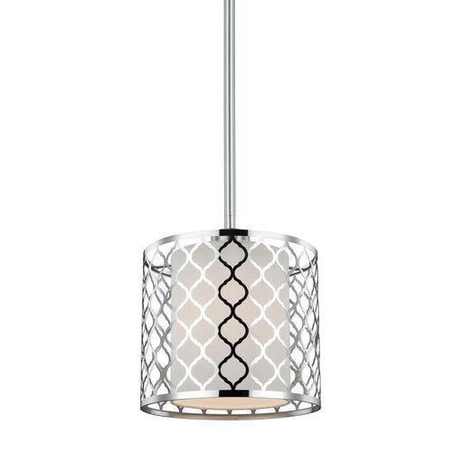 Sea Gull Lighting Jourdanton 1 Light Mini-Pendant, Brushed Nickel