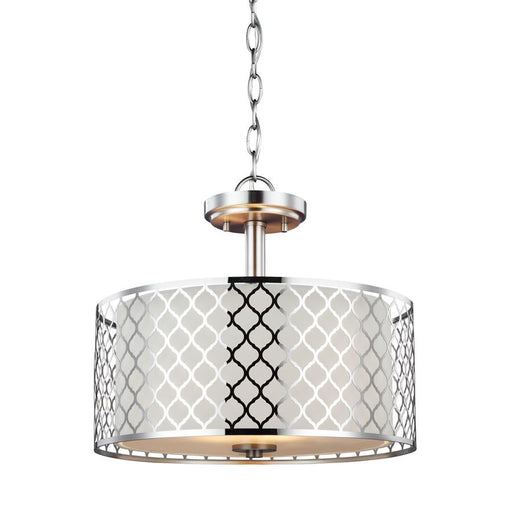 Sea Gull Jourdanton 2 Light Semi-Flush/Pendant, Brushed Nickel