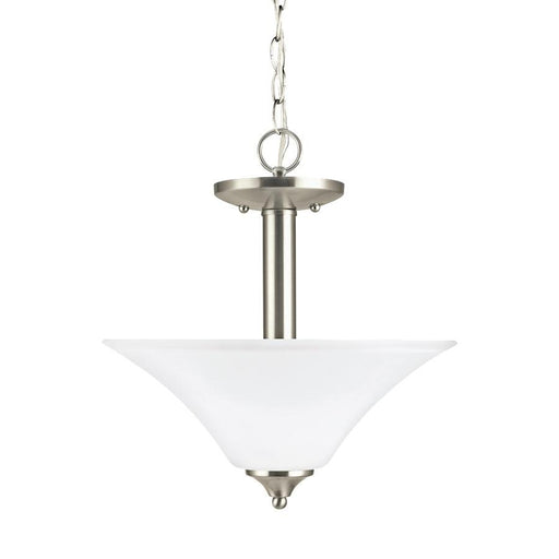 Sea Gull Lighting Holman 2-Lt Semi-Flush Pendant, Nickel