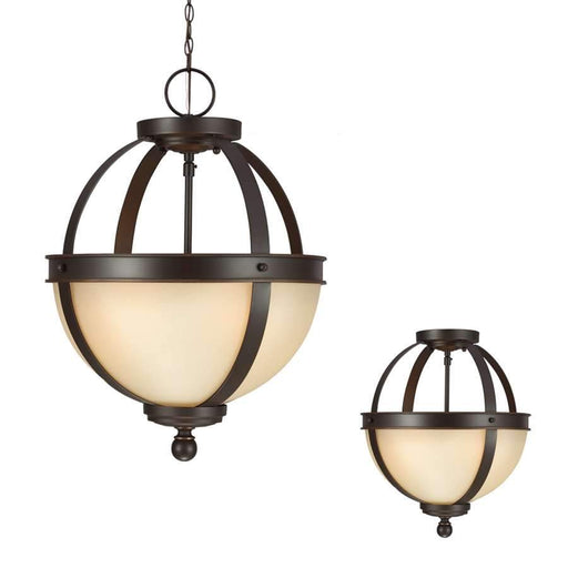 Sea Gull Lighting Sfera Close to Ceiling Lighting, Autumn Bronze
