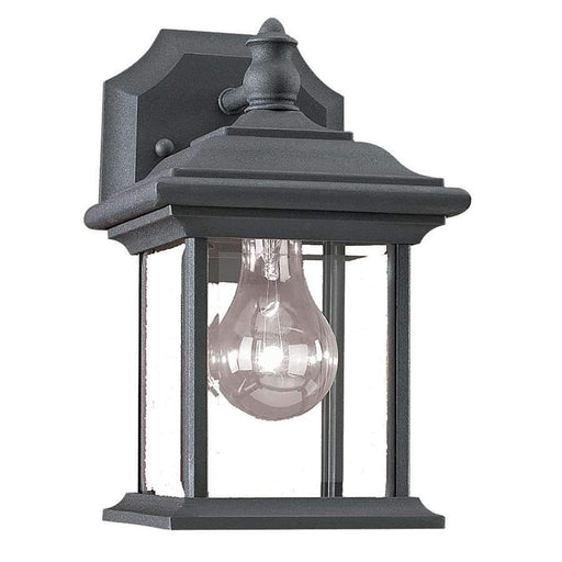 Sea Gull Lighting One Light Black Wall Lantern, Black