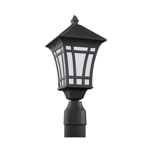 Sea Gull Lighting Herrington 1 Light Outdoor Post Lantern, Black
