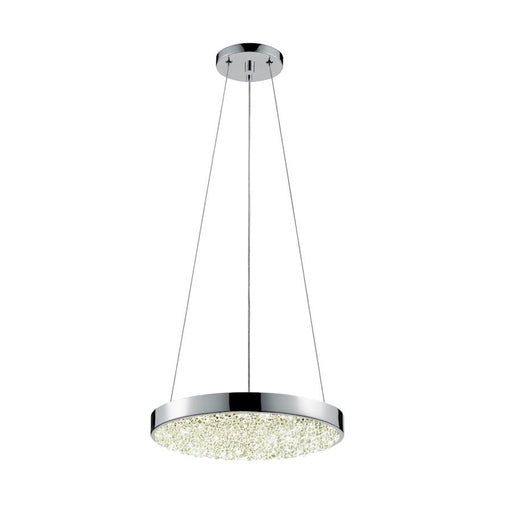 "Sonneman Dazzle 12"" Round LED Pendant, Polished Chrome - 2565-01"