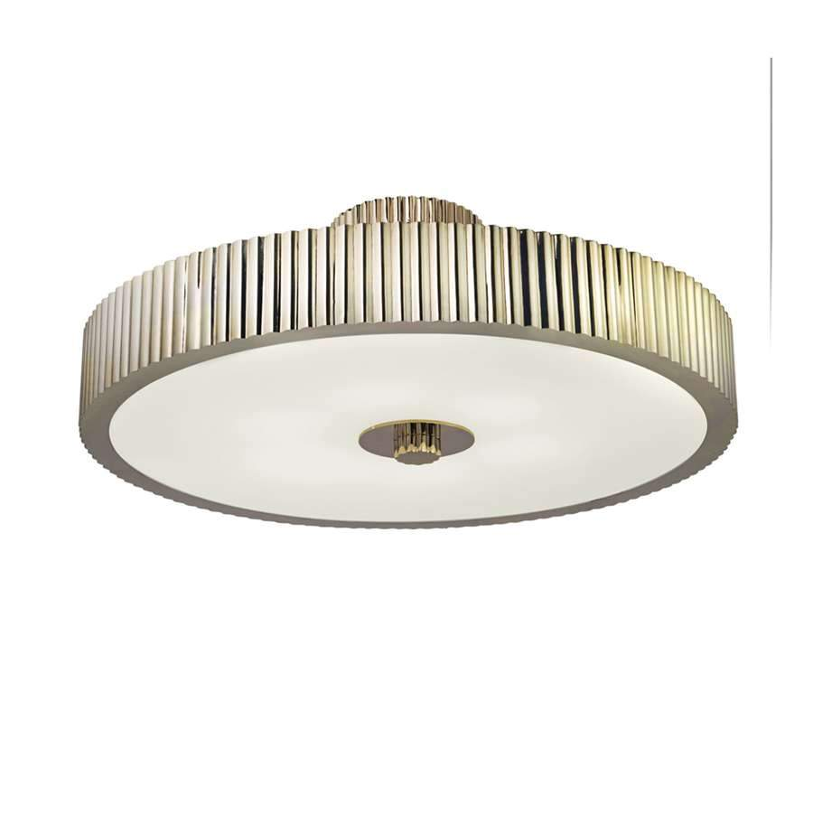 "Sonneman 6-Light Paramount 23"" Semi Flush in Polished Nickel - 4625-35"