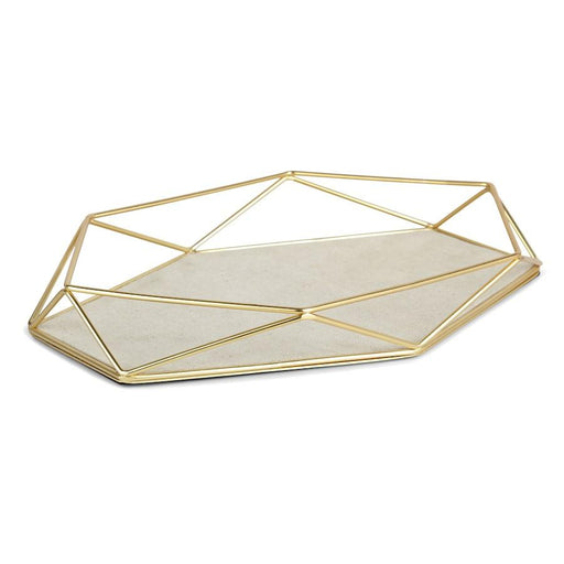 Umbra Prisma Jewel Tray, Matte Brass