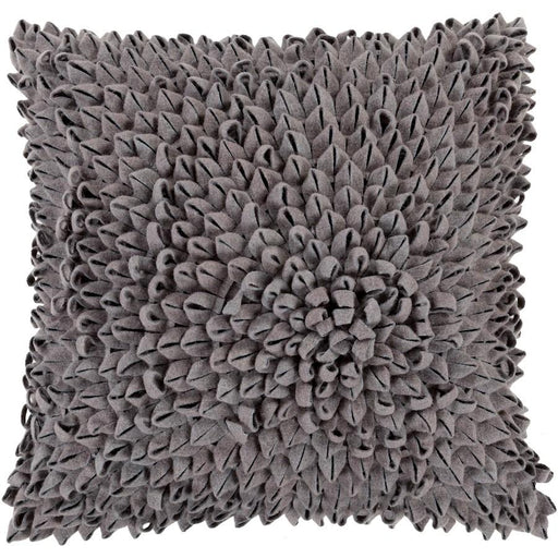 Dahlia by Surya Pillow, Charcoal