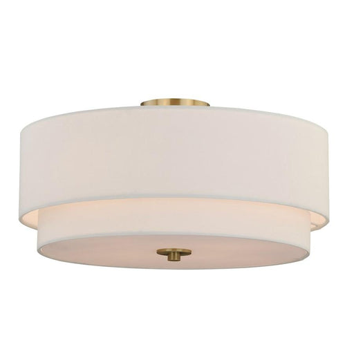 Vaxcel Burnaby 4 Light Semi-Flush Mount, Matte Brass