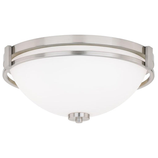 "Vaxcel Metropolis 15"" Flush Mount, Satin Nickel"