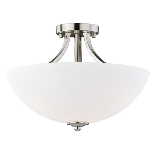 "Vaxcel Mea 16"" Dual Mount Semi-Flush/Pendant, Satin Nickel"