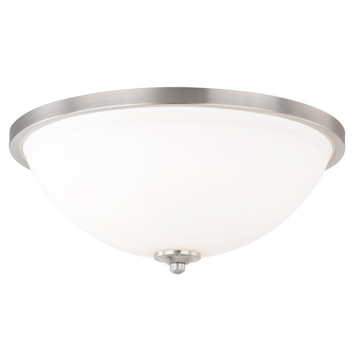 "Vaxcel Mea 17"" Flush Mount, Satin Nickel"