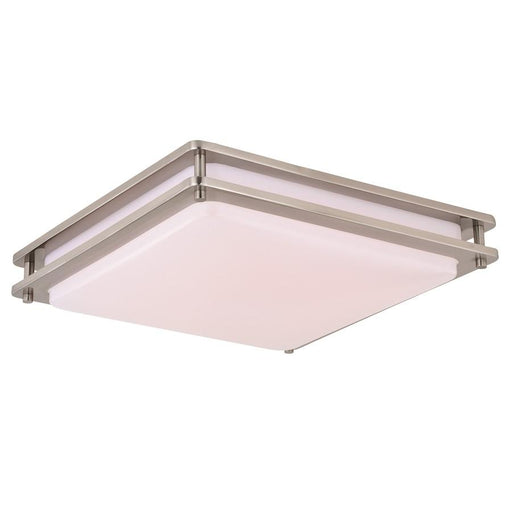 Vaxcel Horizon LED Flush Mount, Satin Nickel