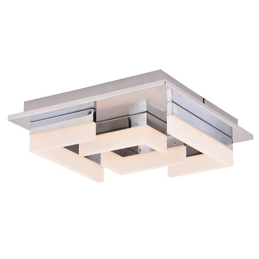Vaxcel Atra Square LED Flush Mount, Chrome