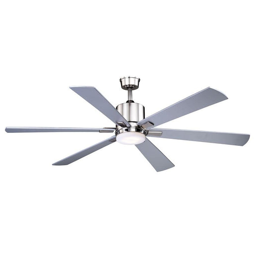 "Vaxcel Wheelock 60"" Ceiling Fan, Brushed Nickel"