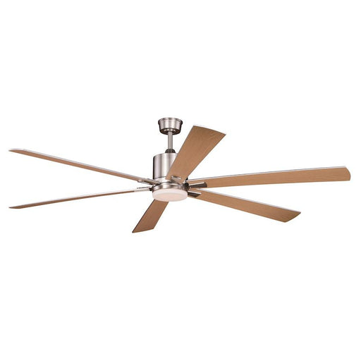 "Vaxcel Wheelock 72"" Ceiling Fan, Brushed Nickel"