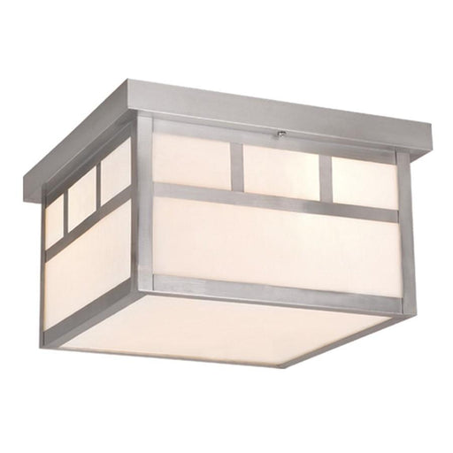 "Vaxcel Mission 12"" Ceiling Light, Stainless Steel"