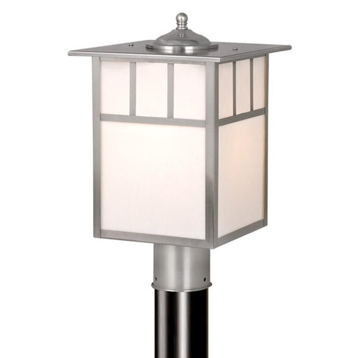 "Vaxcel Mission 9"" Outdoor Post Light, Stainless Steel"