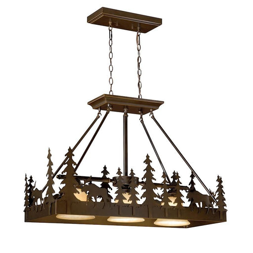 Vaxcel Yellowstone Kitchen Island Pendant, Burnishd Bronze