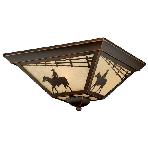 Vaxcel Trail Outdoor Flush Mount, Burnished Bronze