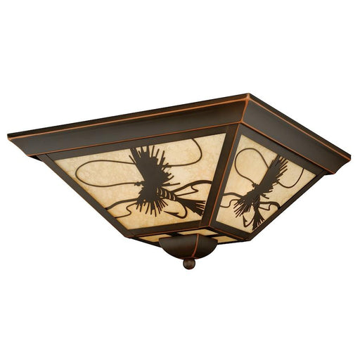 Vaxcel Mayfly Outdoor Flush Mount, Burnished Bronze