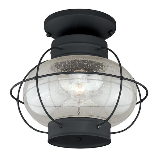 "Vaxcel Chatham 13"" Outdoor Semi-Flush Mount, Textured Black"