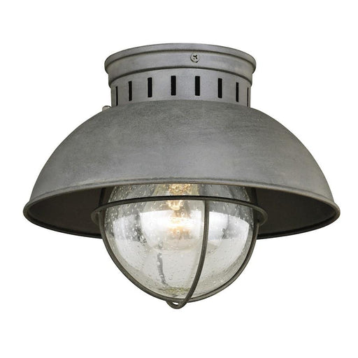 Vaxcel Harwich 1 Light Outdoor Ceiling, Textured Gray