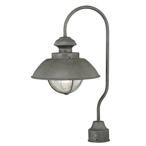 Vaxcel Harwich 1 Light Outdoor Post, Textured Gray