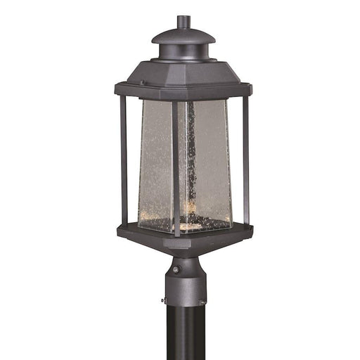 "Vaxcel Freeport 9"" LED Outdoor Post Light, Textured Black"