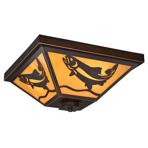 Vaxcel Missoula Flush Mount, Burnished Bronze