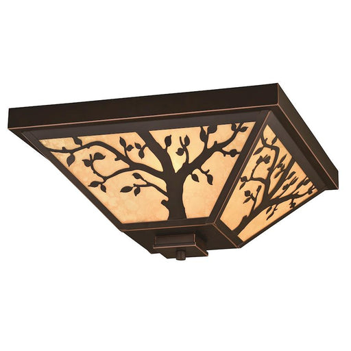 "Vaxcel Alberta 14"" Outdoor Flush Mount, Burnished Bronze"