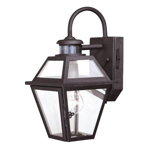 "Vaxcel Nottingham Dualux 7"" Outdoor Wall Light, Textured Black"