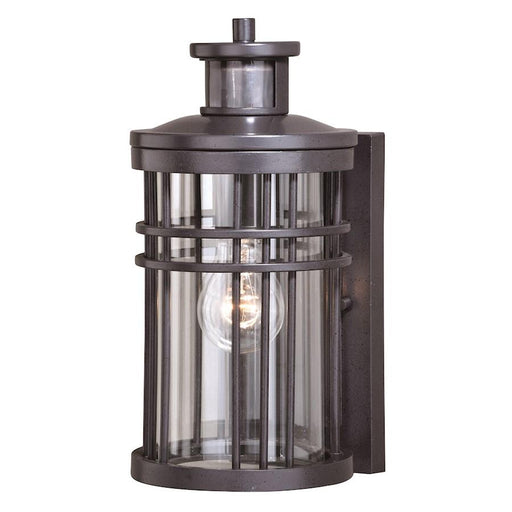 "Vaxcel Wrightwood Dualux 6"" Outdoor Wall Light, Vintage Black"