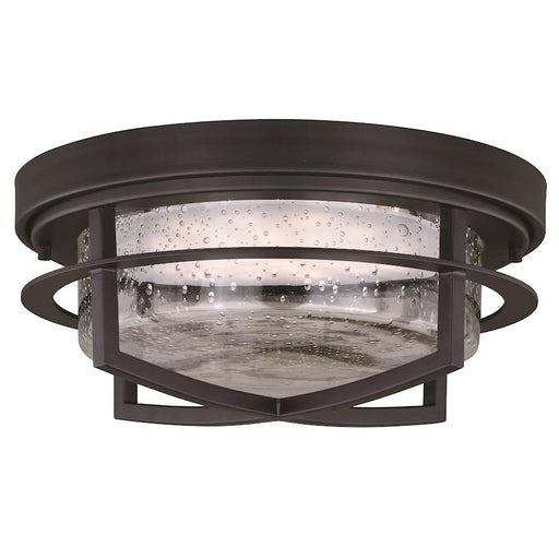 "Vaxcel Logan 13"" Outdoor LED Flush Mount, Carbon Bronze"