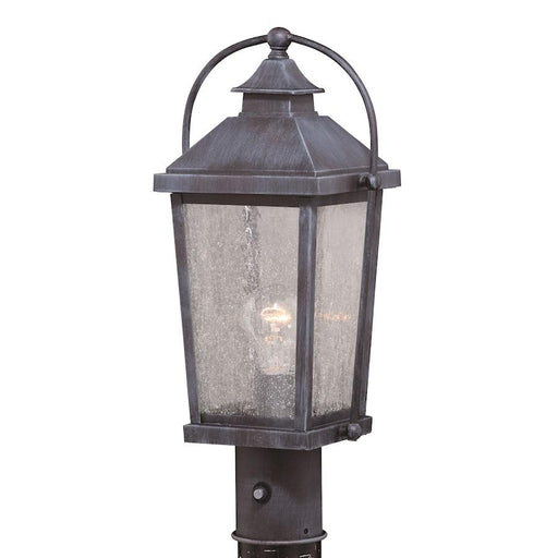 "Vaxcel Lexington 8"" Outdoor Post Light, Colonial Gray"