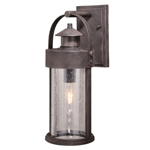 "Vaxcel Cumberland Dualux 6"" Outdoor Wall Light, Rust Iron"