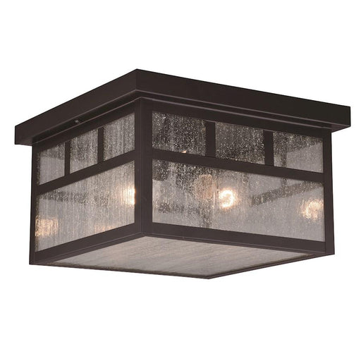 Vaxcel Mission 2 Light Outdoor Flush Mount, Oil Burnished Bronze
