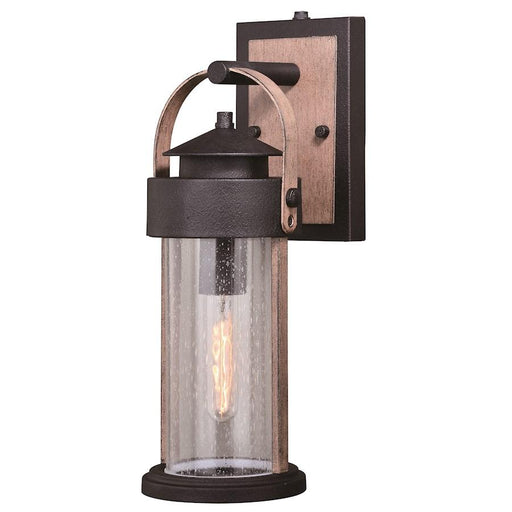 Vaxcel Cumberland 1 Light Outdoor Wall, Bronze/Burnished Oak